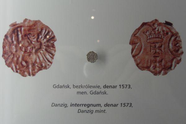 Gdańsk spichlerz Błękitny Baranek - Gdańsk bezkrólewie denar