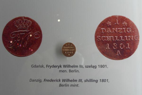 Gdańsk spichlerz Błękitny Baranek - Gdańsk Fryderyk Wilhelm III szeląg