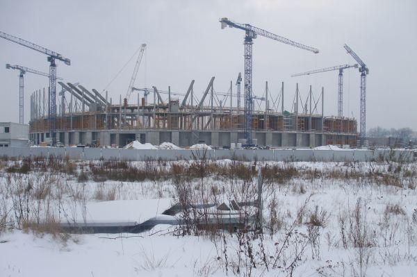 Football stadium in Gdańsk Letnica January 2010