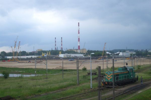 Football stadium in Gdańsk Letnica June 2009
