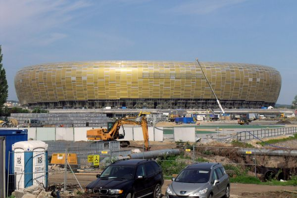 Football stadium in Gdańsk Letnica May 2011