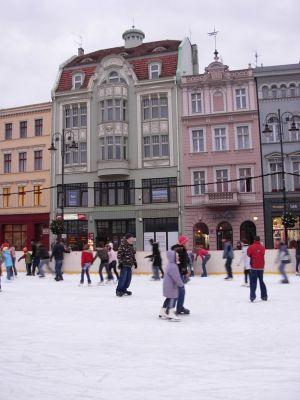 Bydgoszcz lodowisko na Rynku