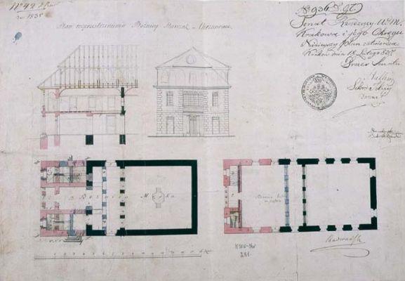 Chrzanow synagoga-projekt przebudowy 1837