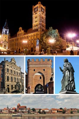 Collage of views of Torun, Poland