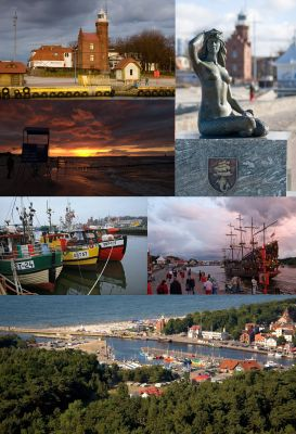 Collage of views of Ustka