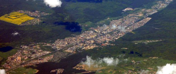 Wejherowo aerial view