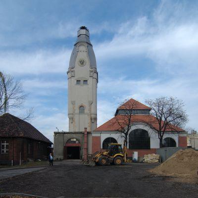 Chorzów Strzelców Bytomskich Szpital im dr Andrzeja Mielęckiego wieża wodna DSC 6271