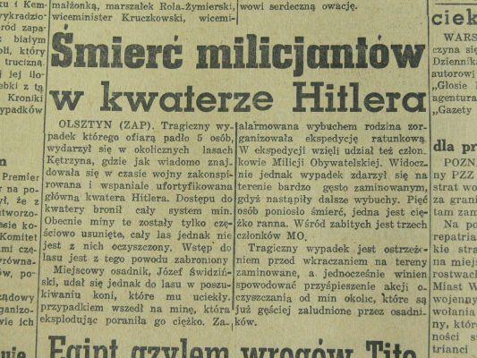 Gierloz, wypadek w pazdzierniku 1946
