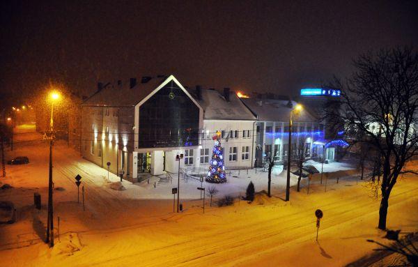 Wysokie Mazowieckie City Hall winter