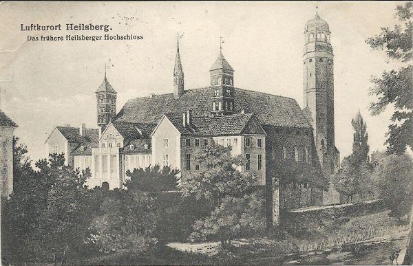 Lidzbar Warminski zamek litografia