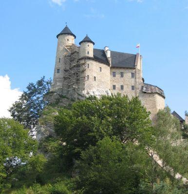 Zamek Bobolice ściana zachodnia3