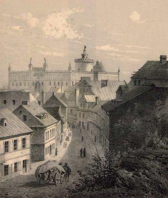 Adam Leure - widok na Zamek Lubelski (1860)