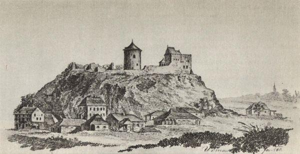 Zamek Lubelski, rysunek L. Urmowskiego z 1810 roku