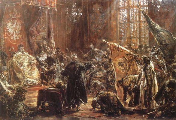 Carowie Szujscy na sejmie warszawskim Jan Matejko 18 century