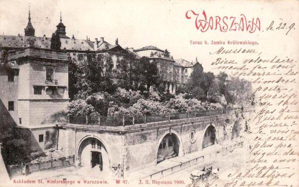 Warszawa tarasy Zamku Krolewskiego 1900