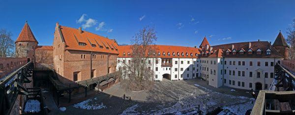 Bytow zamek panorama