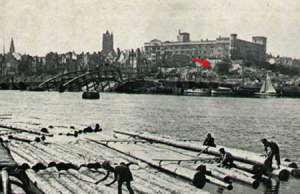 Virgin Tower in Szczecin in 1948