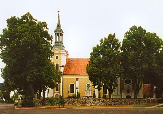 Biezdrowo, kościół św. Krzyża i św. Mikołaja