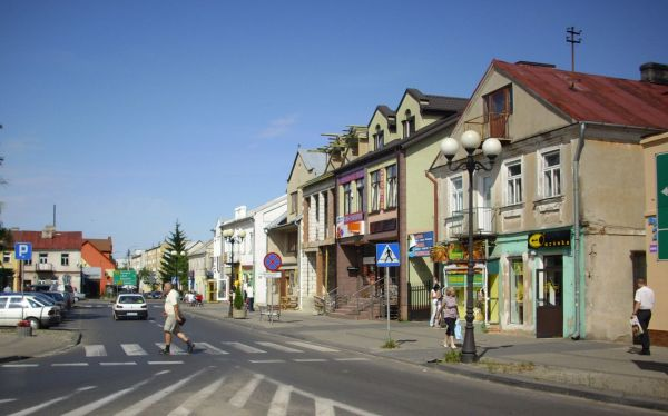 Łosice - Fragment rynku