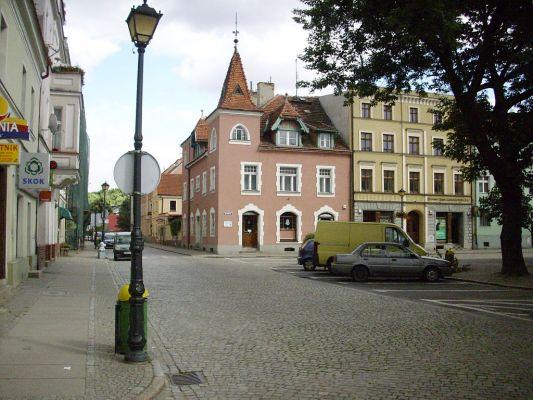 Wschodnia część Rynku w Kątach Wrocławskich