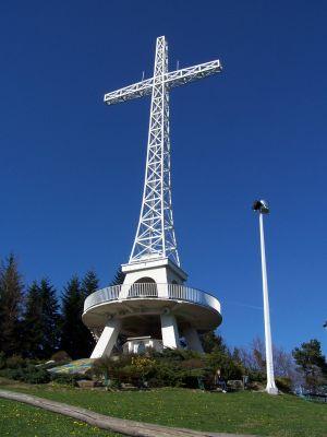 Krzyż na Miejskiej Górze w Limanowej