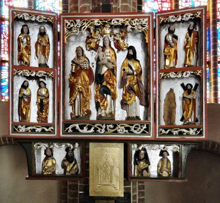 Kaplica Chrzcielna (tryptyk) - Szczecin Katedra św. Jakuba