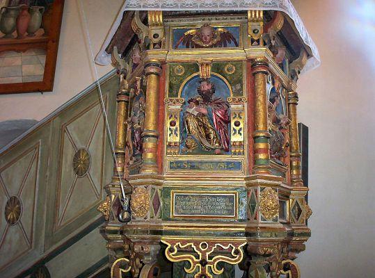 Kościół w Brzesku koło Pyrzyc - ambona