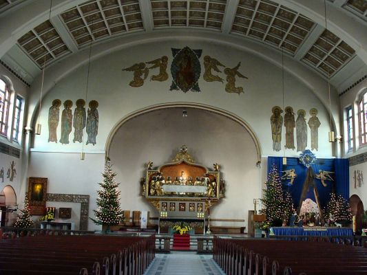 Szczecin - Kościół Najświętszego Serca Pana Jezusa - wnętrze
