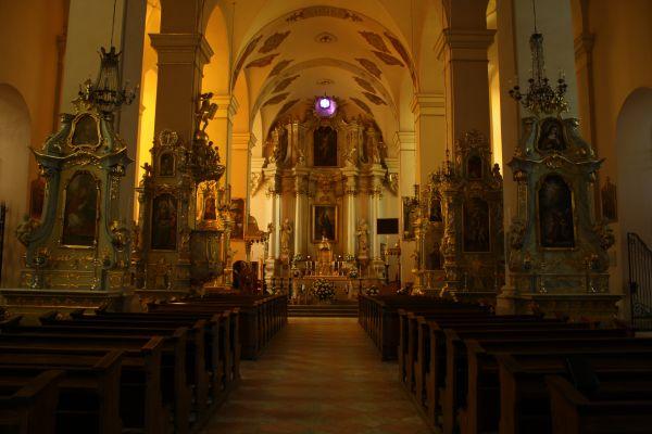 Sejny - Bazylika Nawiedzenia Najświętszej Maryi Panny w Sejnach - wnętrze