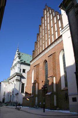 Fasada katedry św. Jana w Warszawie