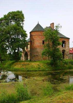 Ruiny obronnego dworu w Modliszewicach