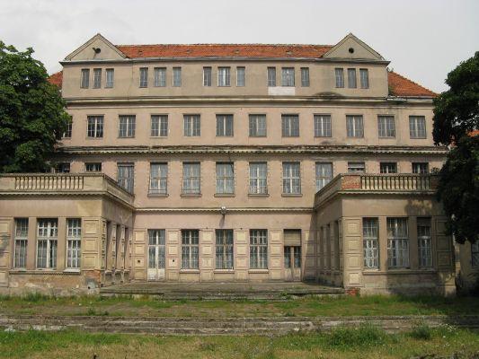Pałac Wolffów w Gronowie - widok o ogrodu