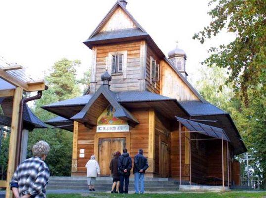 Grabarka. Cerkiew odbudowana po pożarze z 1990 roku
