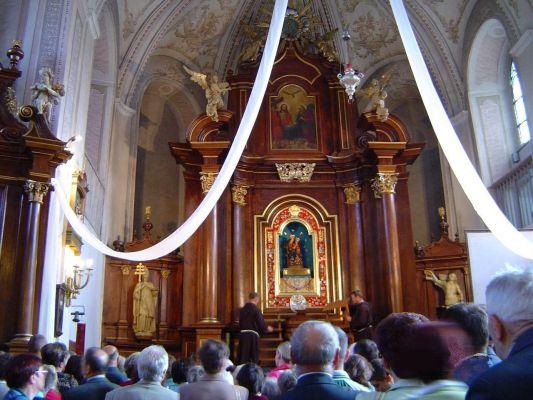 Wnętrze kościoła w Rywałdzie
