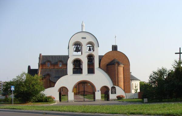 Brama-dzwonnica przy kościele św. Jadwigi w Janowie Lubelskim