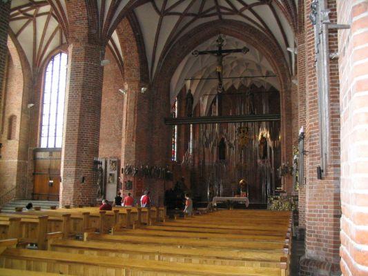 Kościół św. Brygidy w Gdańsku - wnętrze