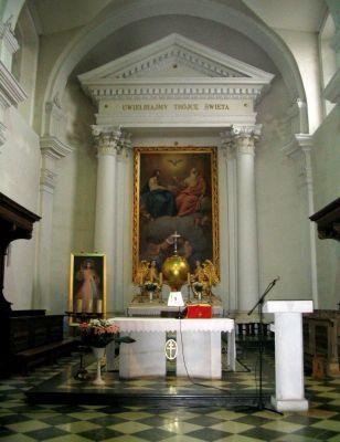Ołtarz kościoła na Św. Krzyżu