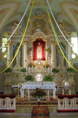 Sanktuarium Maryjne w Górce Klasztornej - wnętrze kościoła