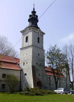 Baszta Krakowska w obwarowaniach opactwa w Sulejowie