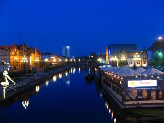 Bydgoszcz, Brda nocą