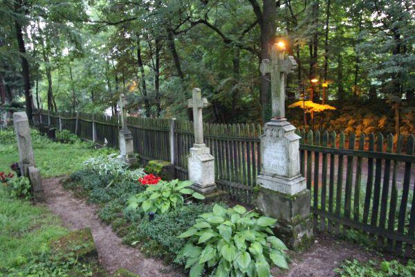Pszczyna - Cmentarz ewangelicki - grobny przy murze
