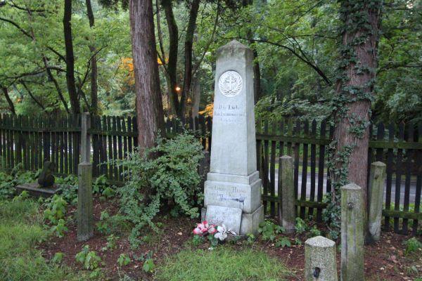 Pszczyna - Cmentarz ewangelicki - nagrobek oblisk