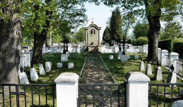 Cmentarz wojenny 225- Brzostek - widok ogólny