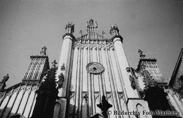 Fasada katedry św. Jana ok. 1900 roku