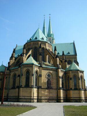 Katedra św. Stanisława Kostki, Łódź - widok z tyłu