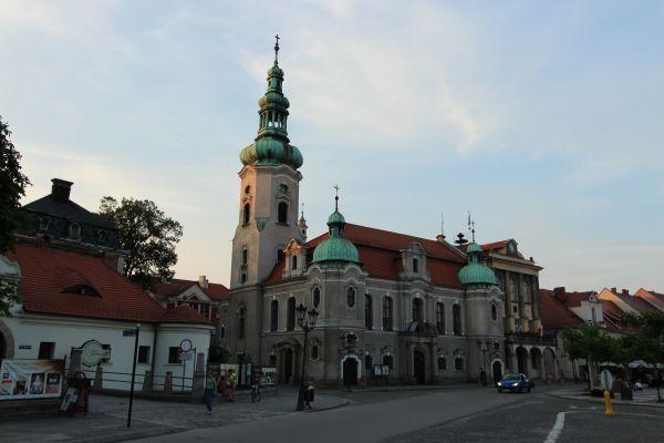 Kościół ewangelicki w Pszczynie od zachodu