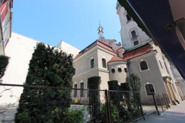Kościół ewangelicki w Pszczynie - widok od Basztowej
