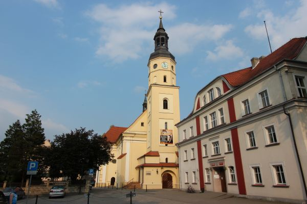 Pszczyna, kościół Wszystkich Świętych, front