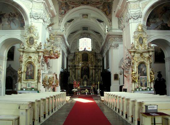 Ląd, pocysterski kościół pw. NMP i św. Mikołaja, wnętrze
