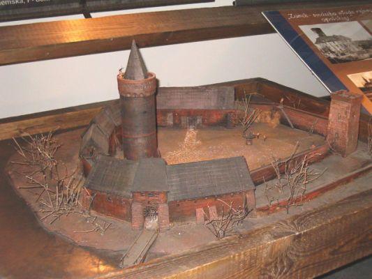 Model zamku piasowskiego w Opolu